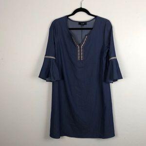 Naif Dresses - Naif Denim Bell Sleeve